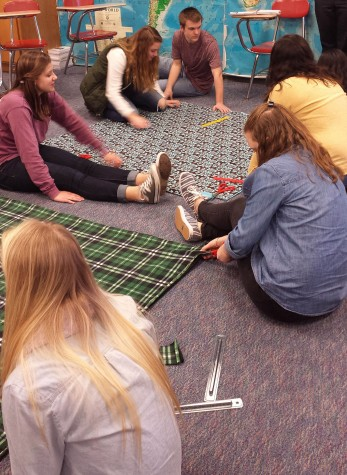 Community Service Club makes blankets for the elderly