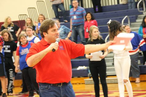LHS wears red, white and blue to show support for the heartbeat of Lancer Nation: Mr. Juster