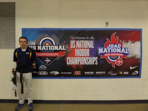 Senior Michael Sweet takes first place at archery nationals