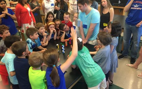 Students teach first graders during Science Day