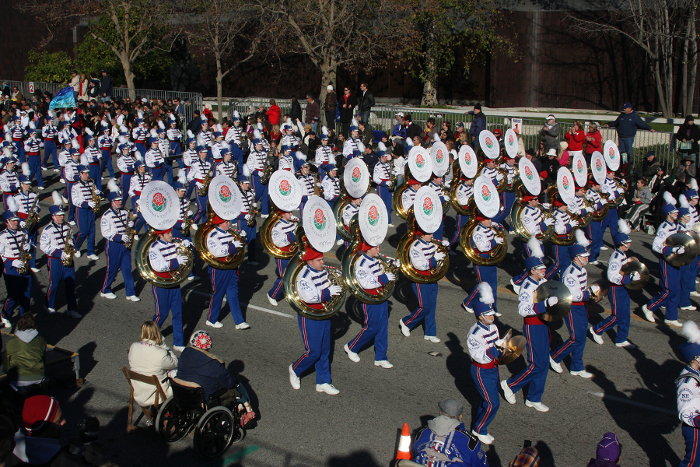 The Marching Lancers' last Rose Bowl performance was in 2011. Photo courtesy of Lancer Music.