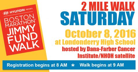 Jimmy Fund 2-mile walk at LHS this Saturday
