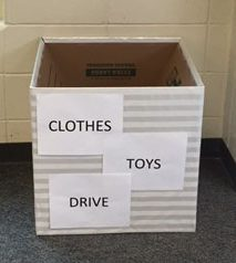 Community Service club hosts school-wide clothing, toy drive