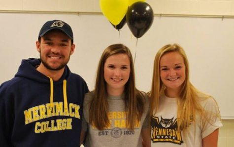 Seniors Sean Snyder, Emily Holland, and Sami Lecaroz will continue their lacrosse careers into college.