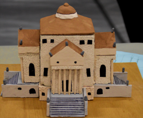 Freshman Lea Baum's model of the Villa Rotunda.