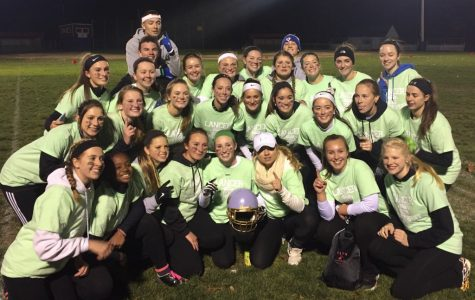 The class of 2018 took home the Powder Puff trophy this year, after defeating the freshmen class in the championship, 7-6.