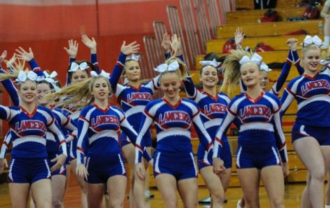 Smiles throughout as the girls take the mat for the last time this season.