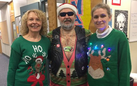 Staff members 'Deck the Halls' with sweaters of ugly