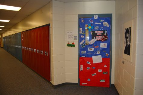 Teachers decorate doors to encourage POP: Perseverance, ownership and practice