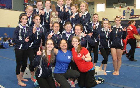 The gymnastics team won the State Meet last season in their home gym.