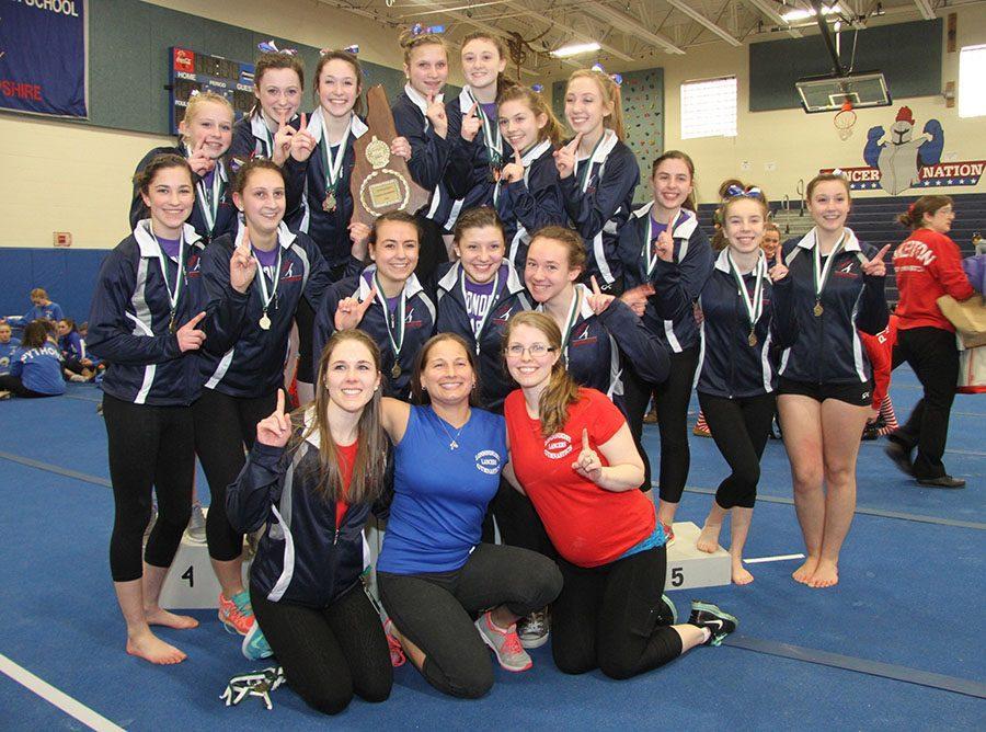 The+gymnastics+team+won+the+State+Meet+last+season+in+their+home+gym.