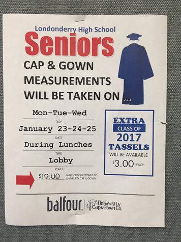 Senior cap and gown measurements to be taken
