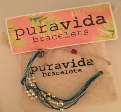 Pura Vida bracelets retail at a reasonable price at $5 for a single band.