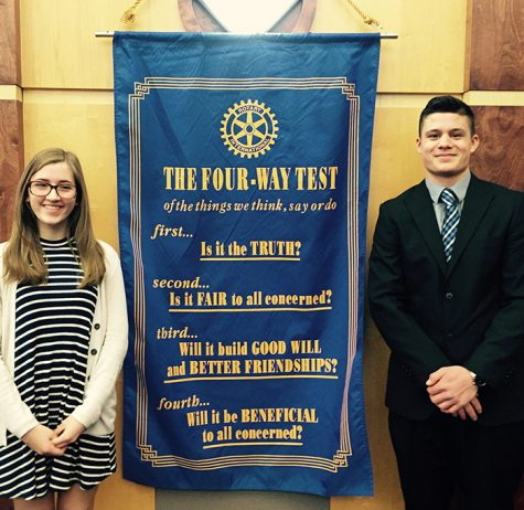 Sophomores win at Rotary speech contest