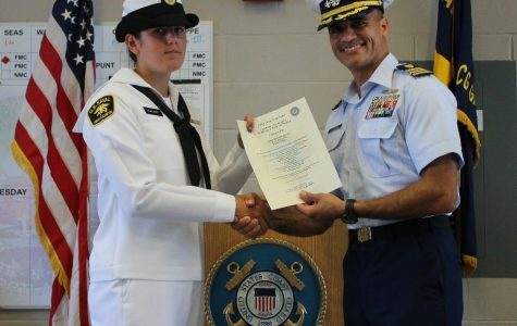 Senior Kiera Tewksbury plans to join the Coast Guard after high school and will spend her day off preparing for that journey.