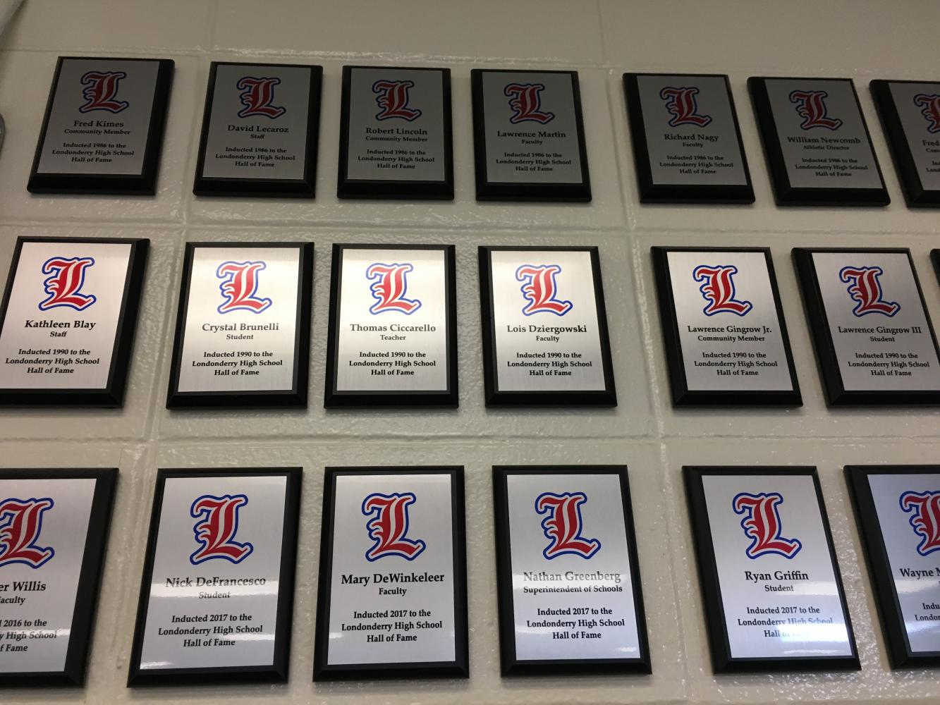The Hall of Fame stands in the LHS lobby for all to see.