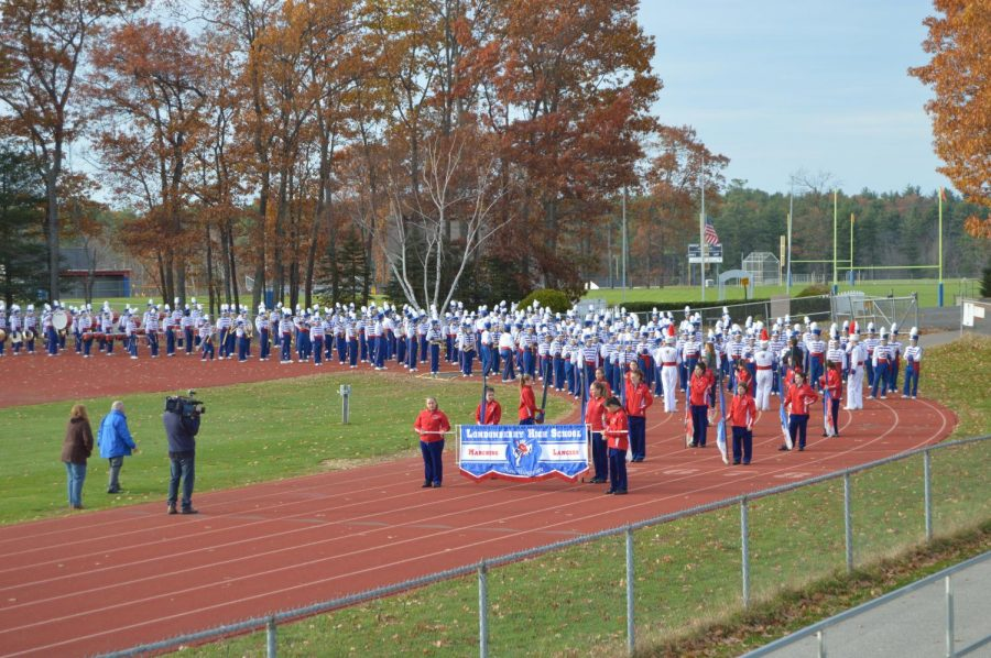 N.H.%27s+Chronicle+visits+LHS+to+highlight+Marching+Lancer%27s+5th+Rose+Bowl+appearance