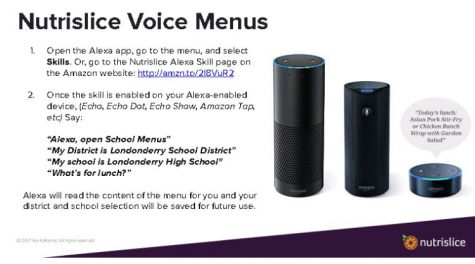 A personalized Alexa feature for LHS: What's for lunch?