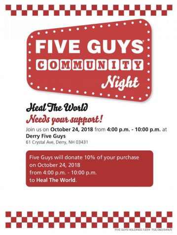 Heal the World hosts fundraiser at Five Guys