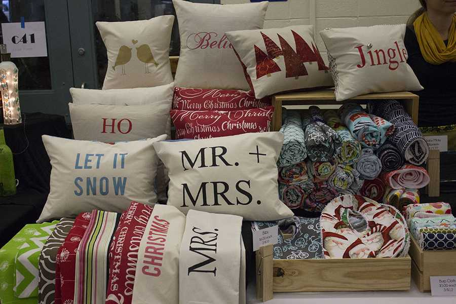 These pillows were a popular item at the craft fair in 2015, and this year vendors will offer similar goods.