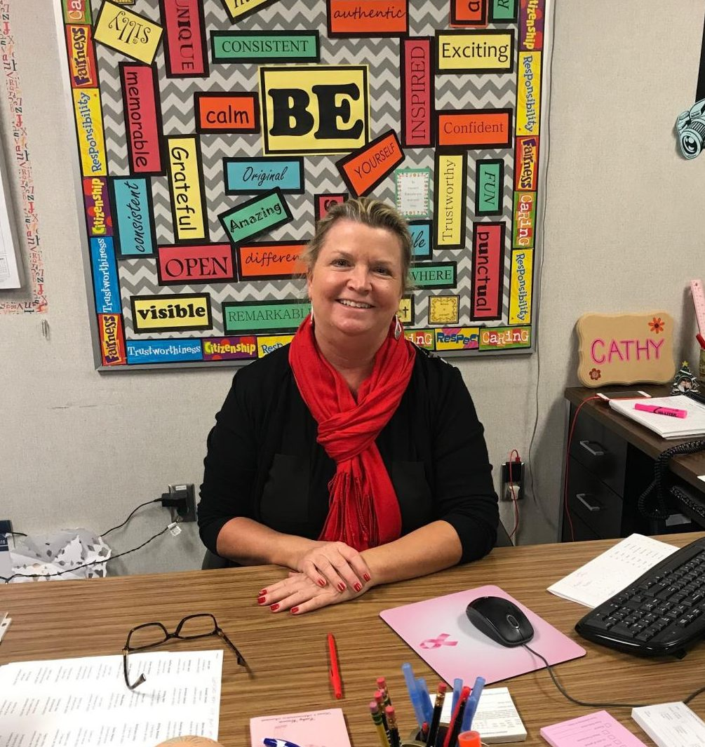 New House 4 secretary Mrs. Brown says she is excited about her new position at LHS.