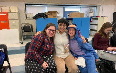 LHS students show school spirit in pjs