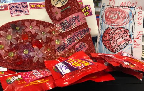 You're never too old for handmade Valentines or sweet candy.