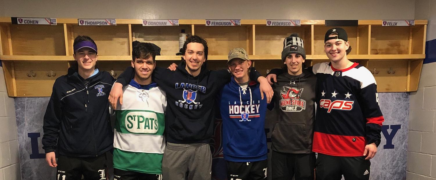The seniors of LHR unite together one last time at the end of the season in the locker room following their postseason loss against Salem.