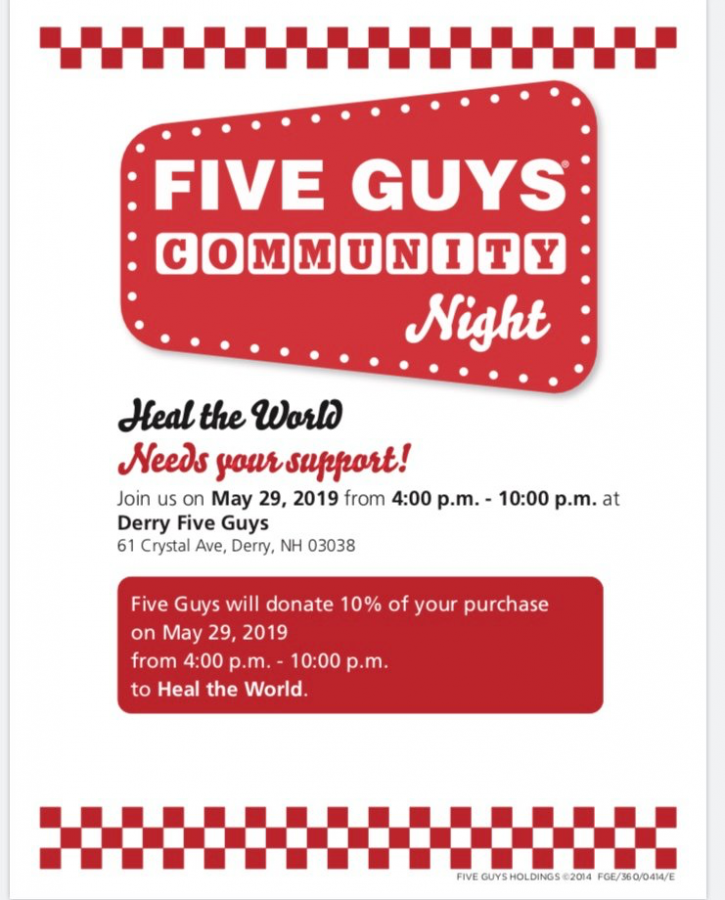 Heal the World club to hold fundraiser at Five Guys