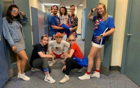 Seniors dress up for USA day