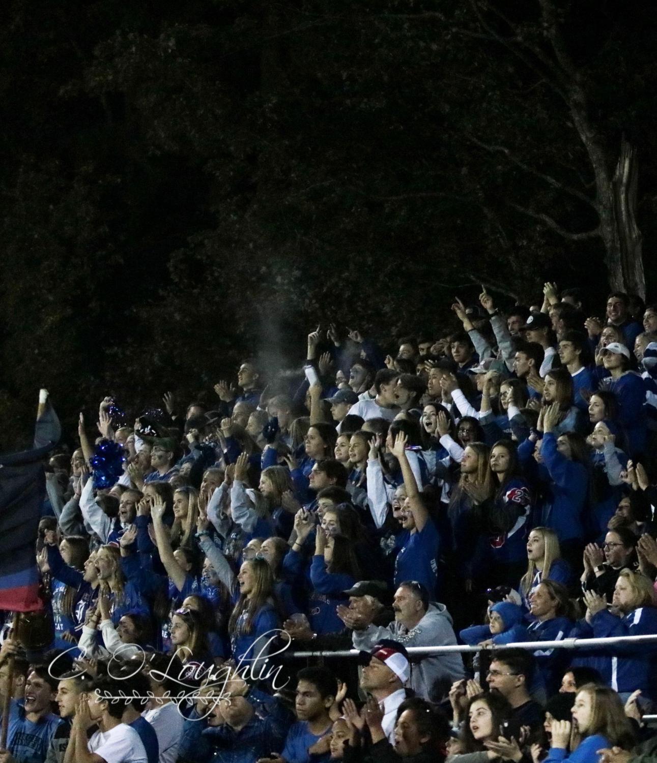 Londonderry fan section cheers on the football team. The Lancers won 42-20.