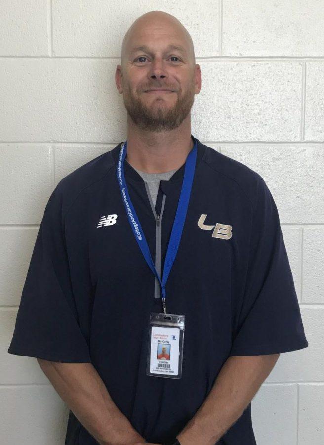 Physical education teacher Mr. Carey