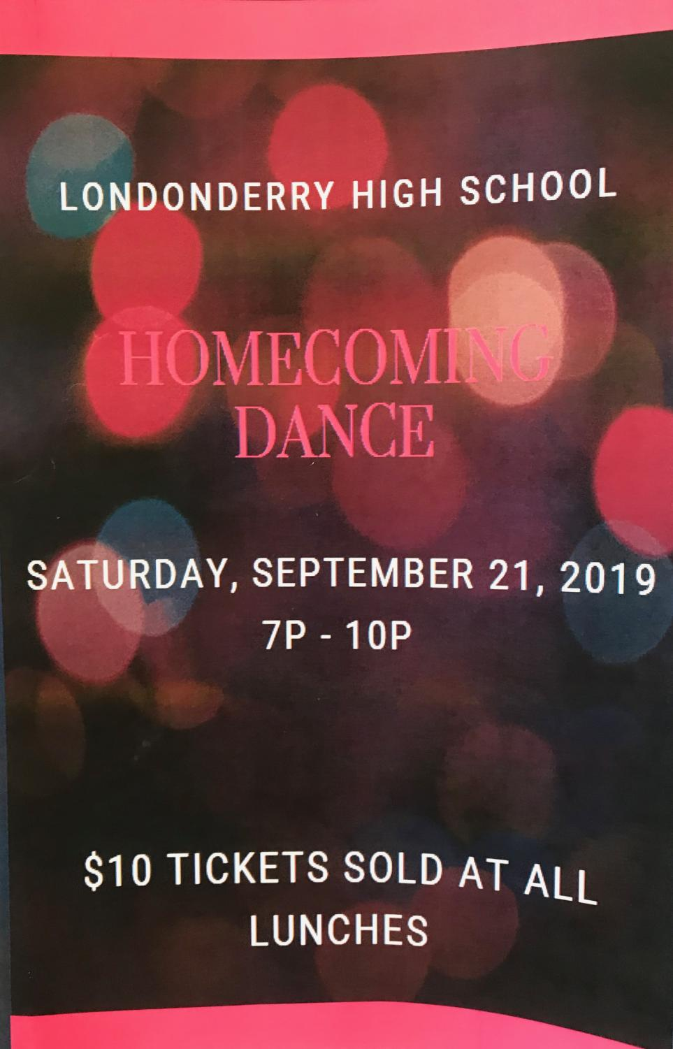 Homecoming will be held at LHS at 7 on Sept. 21.