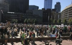 LHS students protest global warming at Youth Climate Strike in Boston