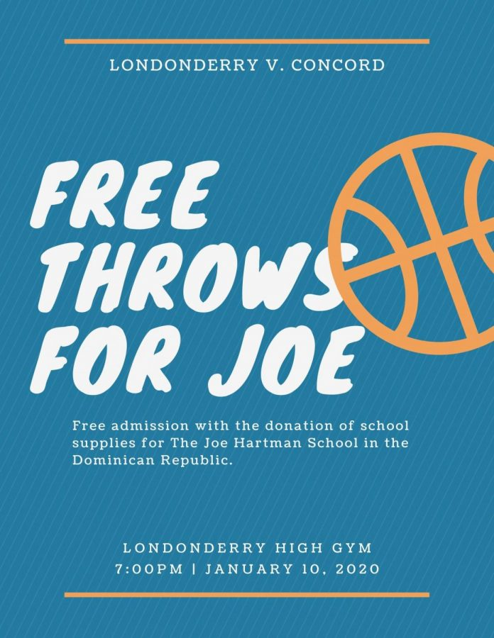 Bring in supplies so you can see the guys . . . play b-ball tonight