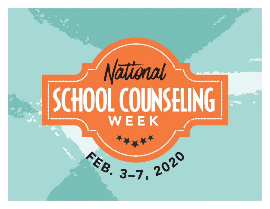 National School Counseling Week's  logo for 2020. Each year the logo is redesigned differently.