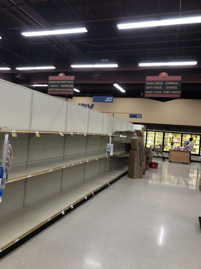 As of a couple of weeks ago when panic about  the coronavirus began, people started to bulk buy their products. This left all the grocery stores almost completely empty, and only benefitted some.