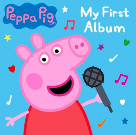 Peppa Pig poses for the cover artwork of her debut record,
