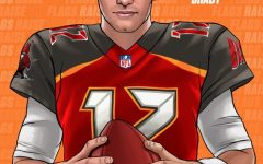 Tom Brady edited into a Bucs' uniform. He signed a two year contract with the team.