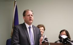 Governor Chris Sununu talks about his plans for Remote Learning at a press conference.