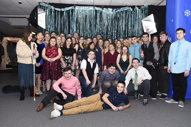 Unified team poses at the 2020 Snowball dance. The dance is annual event for students of any Unified sport.