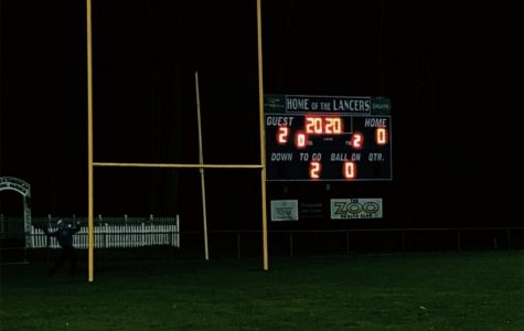 LHS lit up the football field scoreboard with the numbers