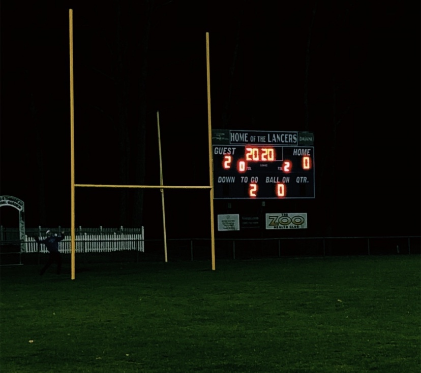 LHS+lit+up+the+football+field+scoreboard+with+the+numbers+%222020%27+in+honor+of+the+senior+class.+
