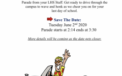 The LHS staff will send off the senior class during their annual car parade.