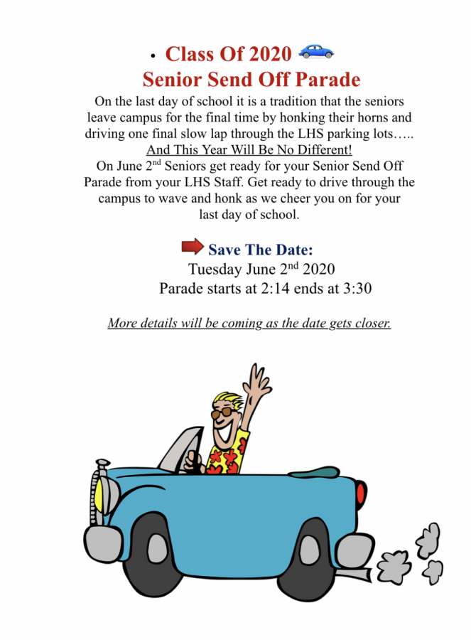 LHS staff to send off senior class during annual car parade