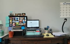 LHS English teacher Ms. Murphy shares her home office setup to her Twitter followers.