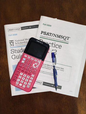 PSAT practice booklets were given to students in preparation for the exam on Wednesday, October 14.