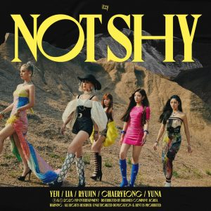 ITZY pose for the cover artwork of