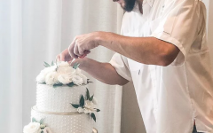 Buatti shows his expertise in dessert decorating, a skill necessary to become the Holiday Baking Champion. Buatti currently works on his craft at his business, Bearded Baking Co., in Manchester.