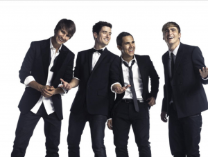 (From left to right) James, Logan, Carlos and Kendall pose for a group photo. While Nov. 28, 2009, is BTR's anniversary, the group's debut, self-titled album wasn't released until Oct. of the following year.